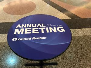 Table Decal - United Rentals 2019